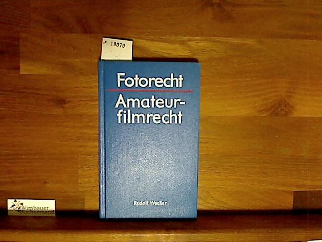 Fotorecht, Amateurfilmrecht