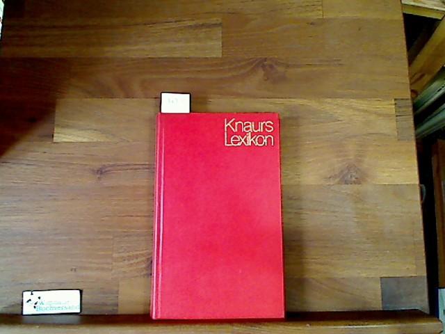 Knaurs Lexikon in zwanzig Bänden. Farbig. Erster Band Aa-As Lizenzausgabe