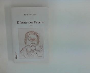 Hinz, Erich Karl: Diktate der Psyche : Lyrik