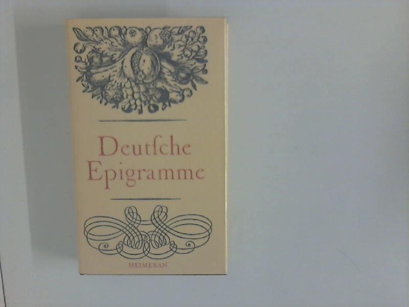 Deutsche Epigramme aus fünf Jahrhunderten