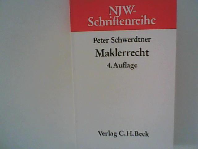 NJW-Schriftenreihe (Schriftenreihe der Neuen Juristischen Wochenschrift), H.18, Maklerrecht