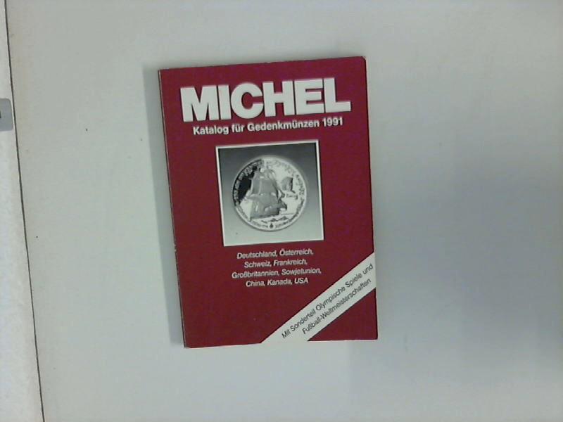 Michel Katalog für Gedenkmünzen 1991 - Deutschland, Österreich, Schweiz, Frankreich, Sowjetunion, China, Kanada, USA.