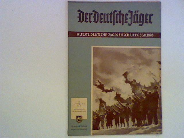 Der Deutsche Jäger: Älteste deutsche Jagdzeitschrifz GEGR.1878; 73. Jahrgang Nr.20