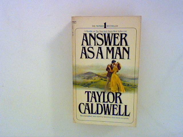 Caldwell, Taylor: Answer as a Man 20 Aufl.
