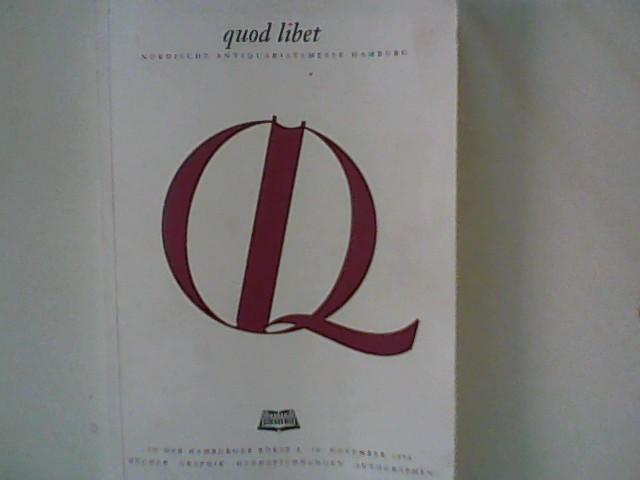 quod libet Nordische Antiquariatsmesse Hamburg 1996