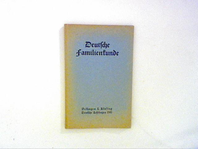Matthaesius, Dr. Friedrich (Hg.): Deutsche Familienkunde