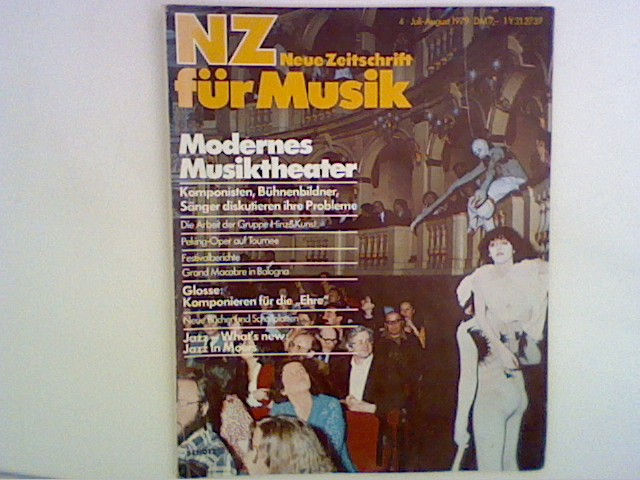 NZ - Neue Zeitschrift für Musik. 140. Jahrgang, Heft 4, 1979
