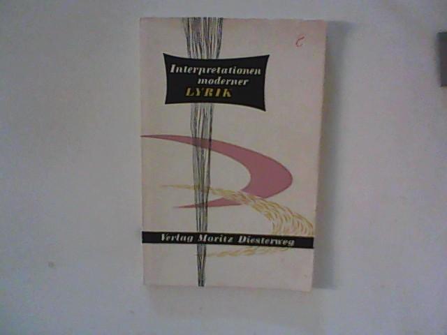 Interpretationen moderner Lyrik 6. Aufl.