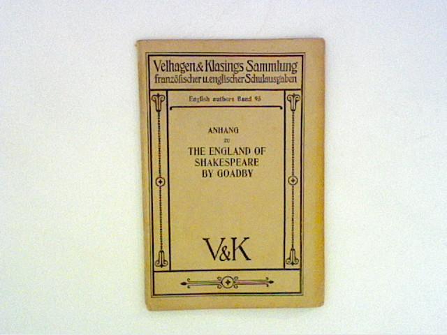 Unbekannt: Anhang zu The England of Shakespeare by Goadby.