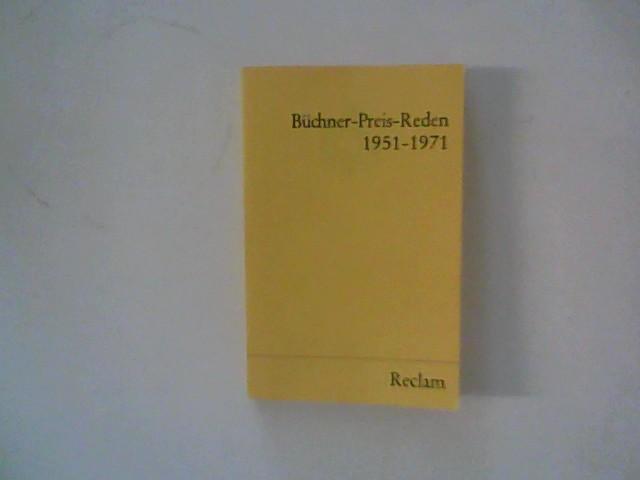 Büchner-Preis-Reden : 1951 - 1971. Vorw. von Ernst Johann.