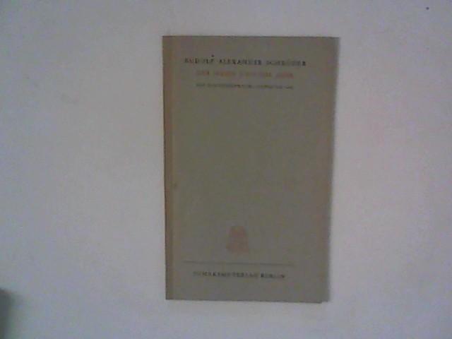 Schröder, Rudolf Alexander: Der Mann und das Jahr. Ein Nachtgespräch/Silvester 1945