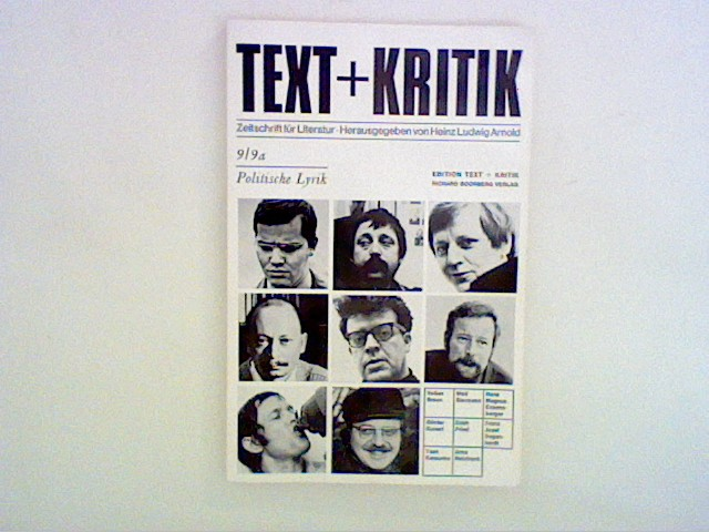 Politische Lyrik - Text + Kritik Heft 9/9a