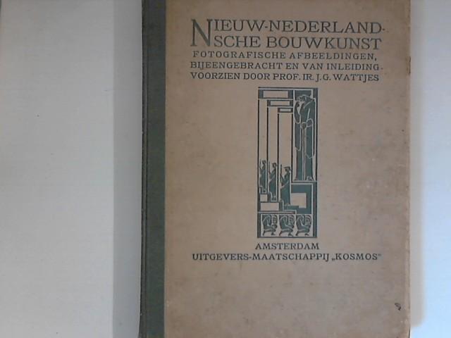 Nieuw-Nederlandsche Bouwkunst. Een Verzameling van fotografische Afbeeldingen van nederlandsche moderne Bouwwerken met Plattegronden Door