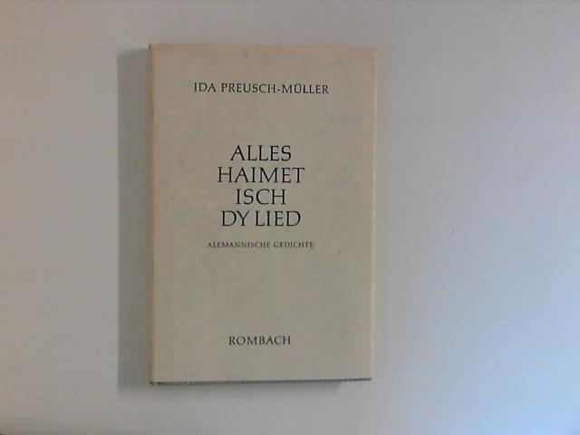 Preusch-Müller, Ida: Alles, Haimet, isch dy Lied