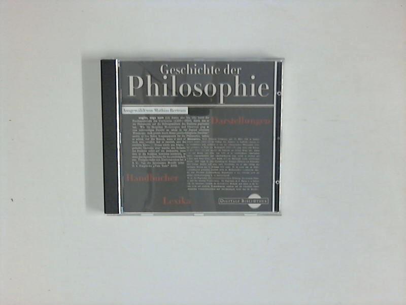 Geschichte der Philosophie. Darstellungen, Handbücher, Lexika  - Digitale Bibliothek Bd. 3