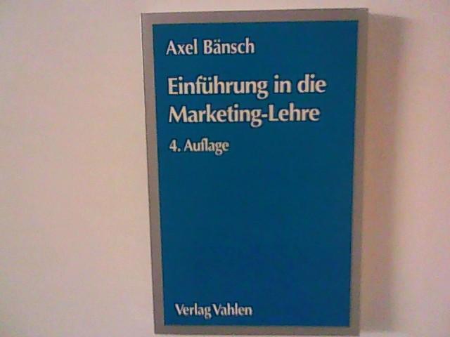 Einführung in die Marketing-Lehre.