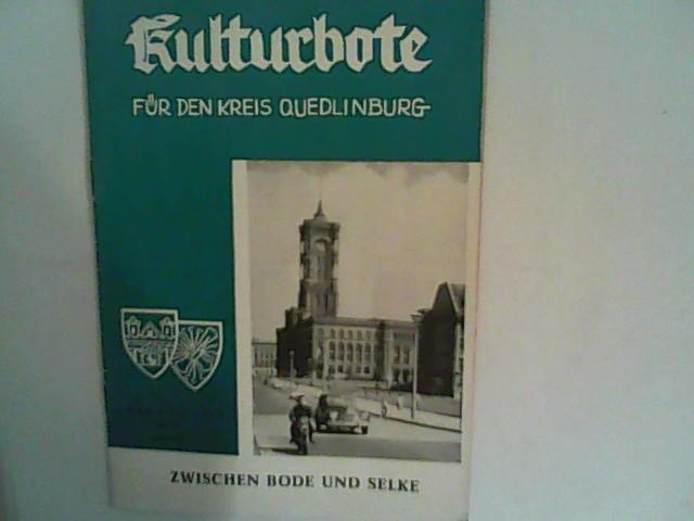 Kulturbote für den Kreis Quedlinburg.  Zwischen Bode und Selke, Jahrgang 1961, Nr. 10 Oktober