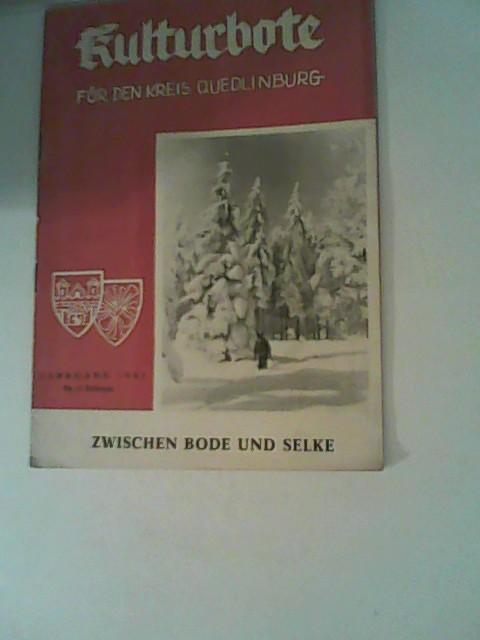Kulturbote für den Kreis Quedlinburg.  Zwischen Bode und Selke, Jahrgang 1961,Nr. 2 Februar