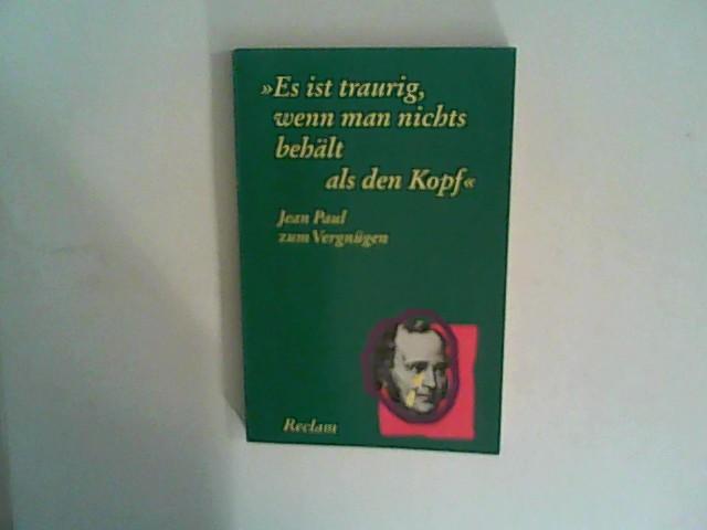Kaiser, Herbert: Jean Paul zum Vergnügen: