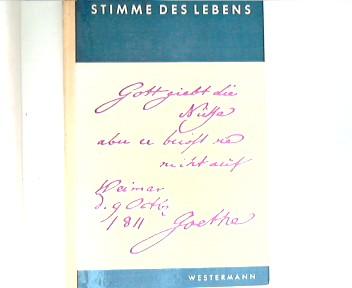 Stimme des Lebens  Bd. 5 : für Mittel und Realschulen Westermann Lesebuch