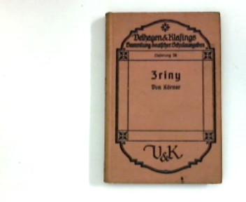 Zriny  Ein Trauerspiel von Theodor Körner Sammlung  deutscher Schulausgaben