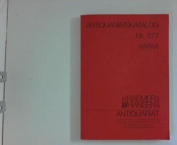 Antiquariatskatalog Nr. 277 - Varia