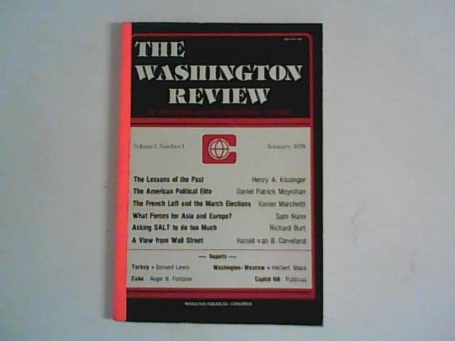 The Washington Review of Strategic ans International Studies Volume 1 Number 1, January 1978