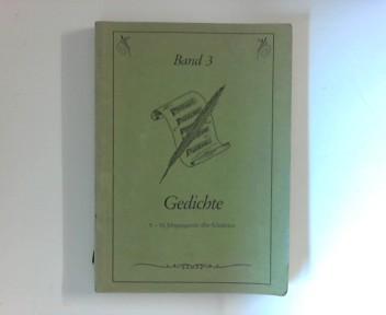Gedichte Band 3; 5.-10. Jahrgangsstufe aller Schularten