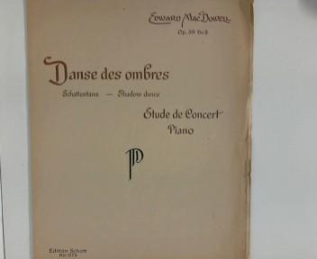 Danse des ombres : Schattentanz - Shadow dance : Etude de Concert, Piano ; (Edition Schott ; Nr. 1775)