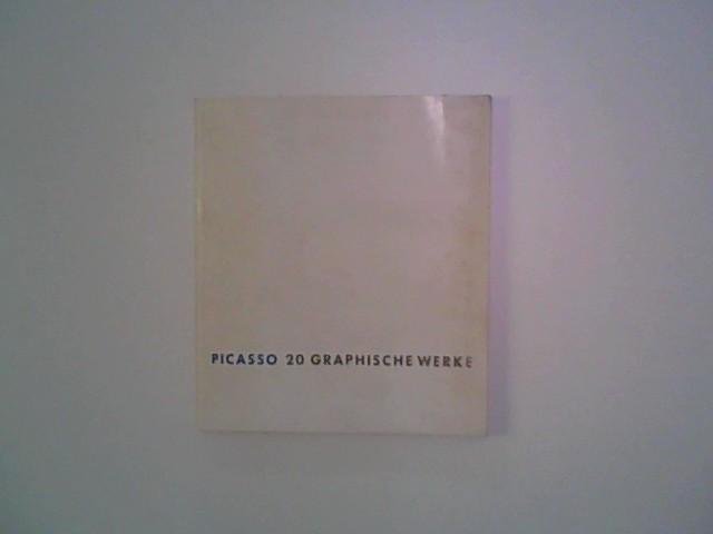 Picasso 20 graphische Werke Picassos : Daniel-Henry Kahnweiler , Ausstellung 12. Dez. 1970 bis 17. Jan. 1971, Katalog 20 graphische Werke.