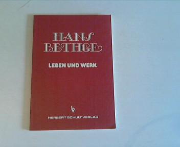 Hans Bethge : Leben u. Werk ; 1876 - 1946. von Sonderdr.