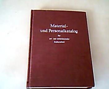 Material und Personalkatalog für ost und mitteldeutsche Kulturarbeit in der Bundesrlik und West- Berlin