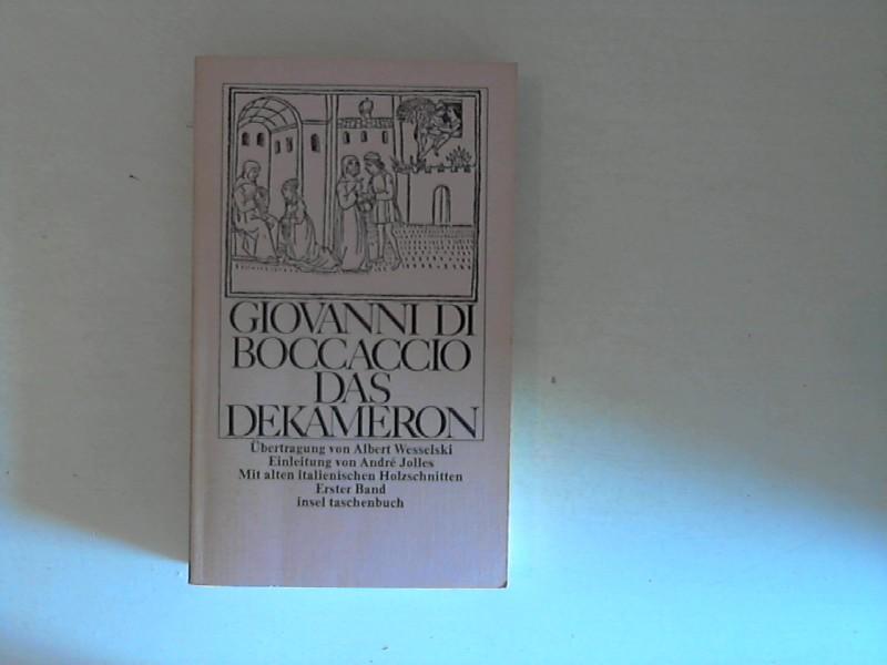 Giovanni di Boccaccio : Das Dekameron. 1. Band.