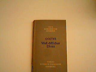 West-östlicher Divan Band 2 Mit e. Einf. v. Ulrich Bernays, Texte europäischer Literatur