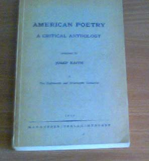 American Poetry: A critical anthology