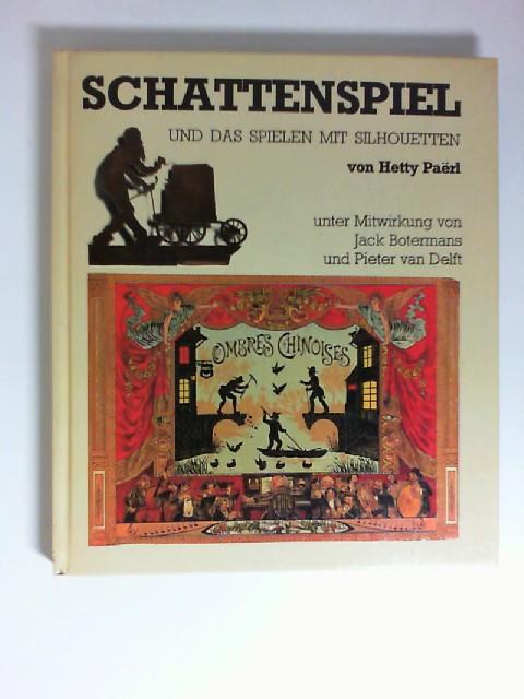 Schattenspiel : Schattenspiel u.d. Spielen mit Silhouetten. von. [Aus d. Holländ. übers. von Warmund Graf Preysing] ISBN 3763225900.
