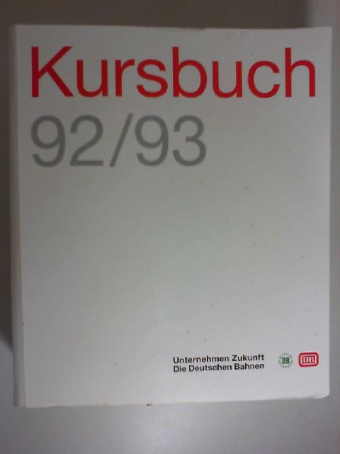 Kursbuch 92/93. Jahrsausgabe 31. Mai 1992 bis 22. Mai 1993