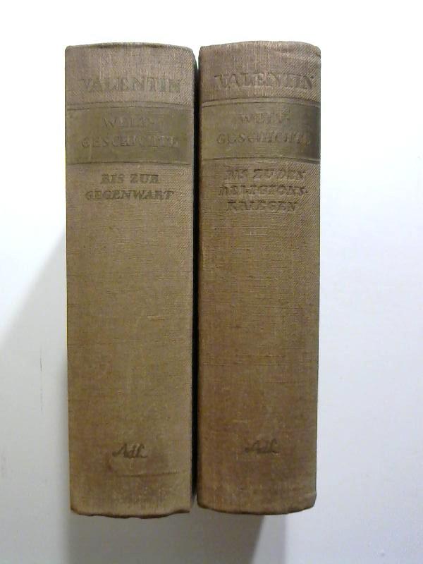 Welgeschichte. Völker, Männer, Ideen. 2 Bände. 2 Bände