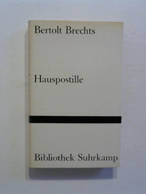 Bertolts Brechts Hauspostille.