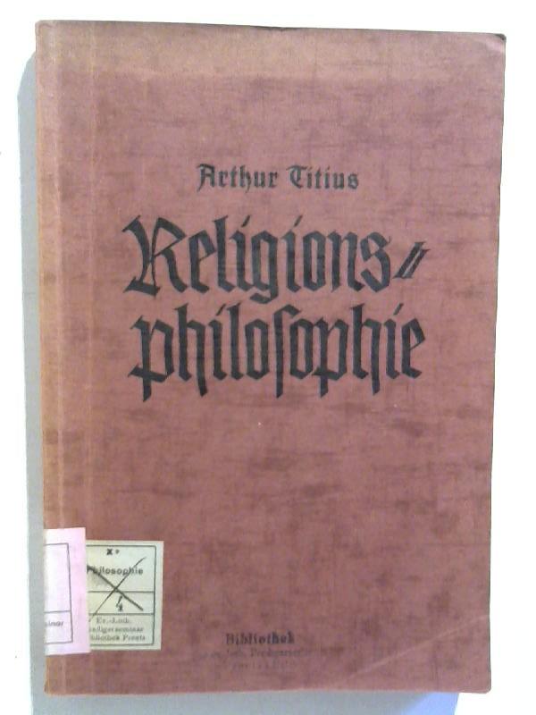 Religionsphilosophie. Beiträge zur Religionsphilosophie.
