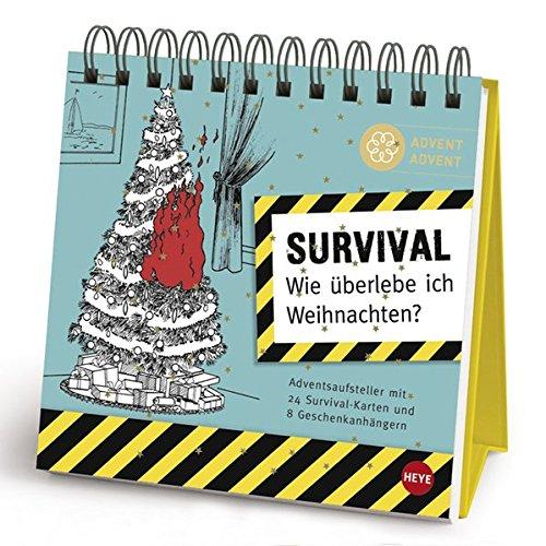 Survival Adventsaufsteller Geschenkbuch Wie überlebe ich Weihnachten