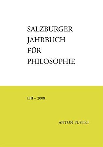 Salzburger Jahrbuch für Philosophie 53 - 2008
