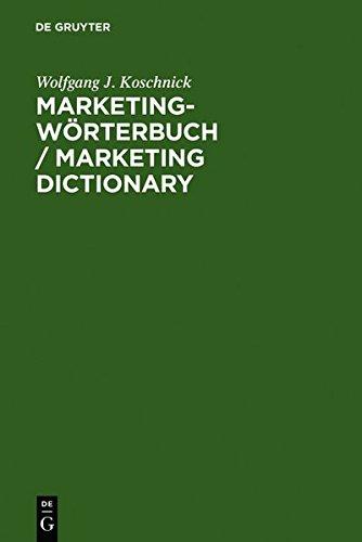Marketing-Wörterbuch, Deutsch-Englisch/Englisch-Deutsch;