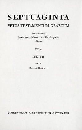 Septuaginta. Vetus Testamentum Graecum. Auctoritate BD VIII / TEIL 4