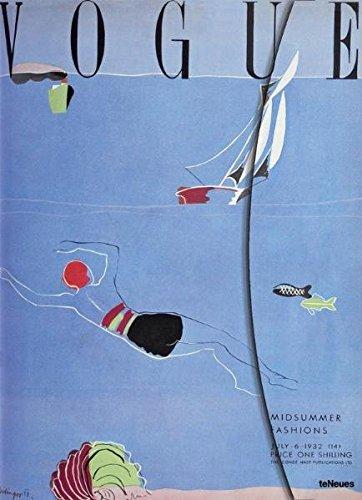 Vogue, Midsummer Fashions, Magneto Blank Book, groß Unliniert. Mit Magnetverschluss und Fach für lose Notizen, Unterlagen