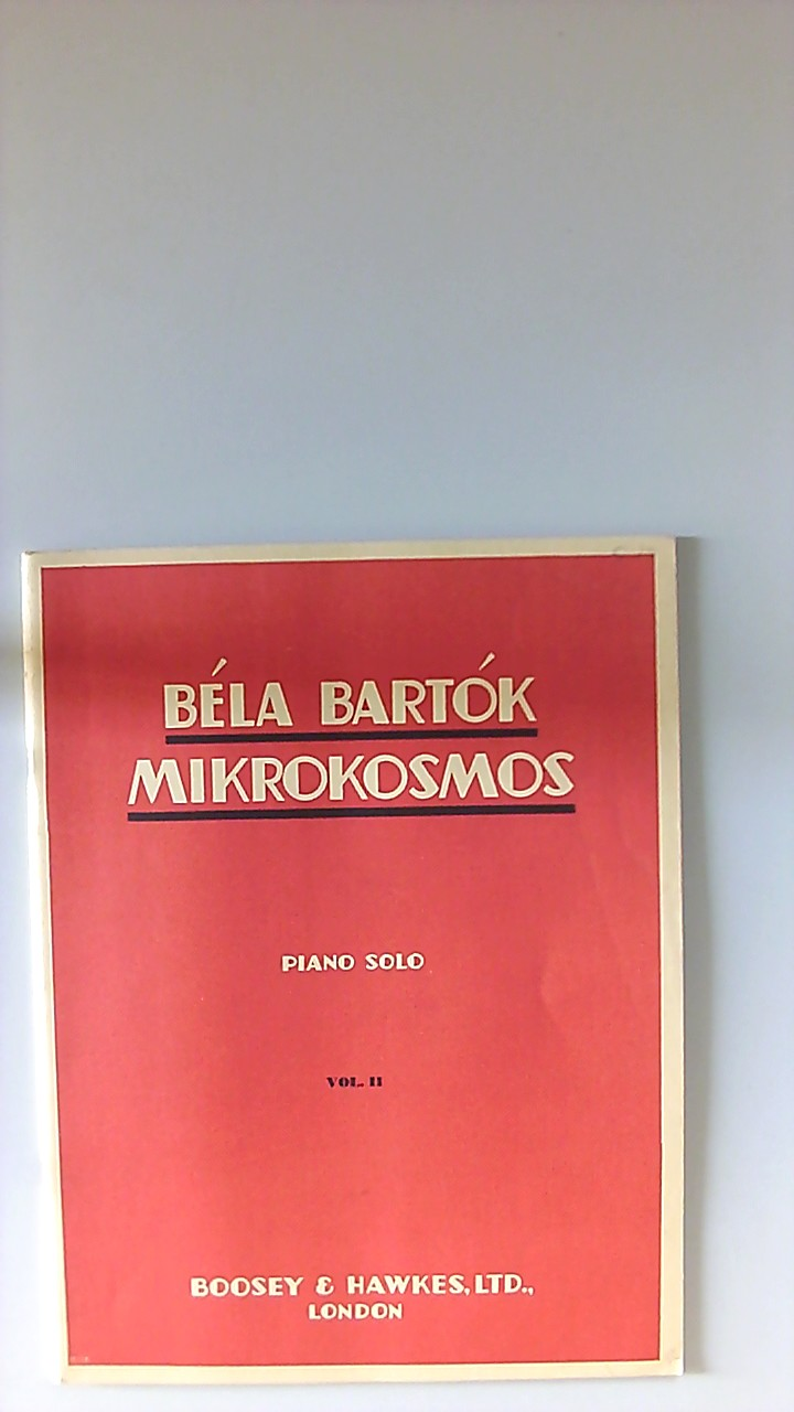 Mikrokosmos 2 ., Progressive Piano Pieces.Piano Solo. Band 2