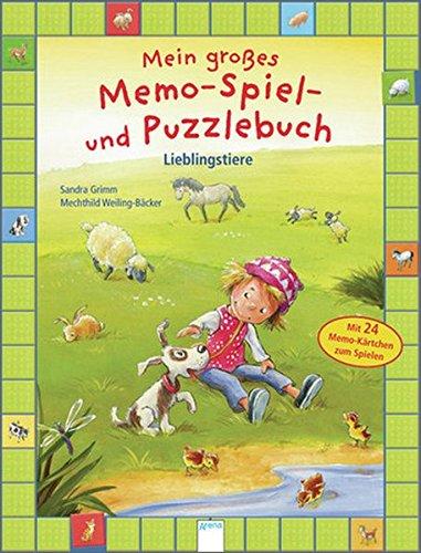 Mein großes Memo-Spiel- und Puzzlebuch. Lieblingstiere. Mit 24 Memo-Kärtchen zum Spielen
