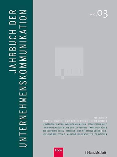 Jahrbuch der Unternehmenskommunikation 2009. Band 03.