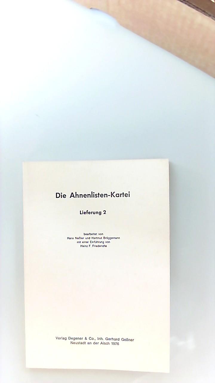 Die Ahnenlisten-Kartei; Teil: Lfg. 2. Genealogische Informationen ; Bd. 5