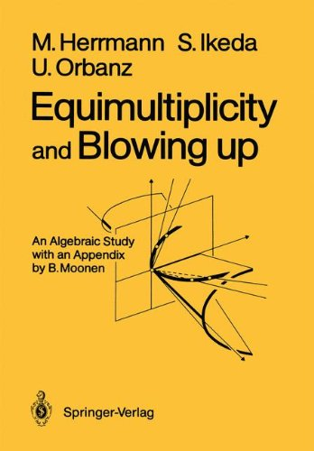 Manfred, Herrmann: Equimultiplicity and Blowing up An Algebraic Study